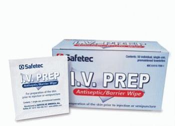 I.V. Prep Antiseptic/Barrier Wipe