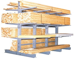 Lumber Rack: Complete Heavy Duty Cantilever Lumber Rack System